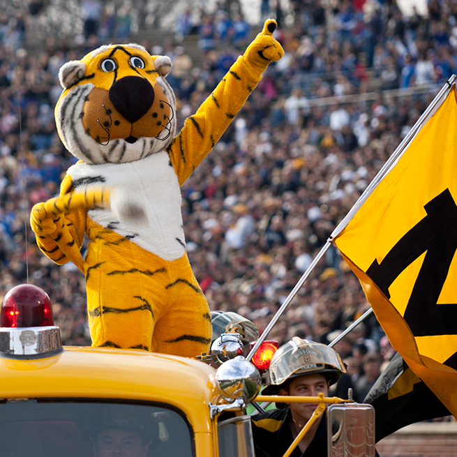 Truman play to Mizzou football fans at Faurot Field