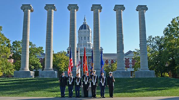 University of Missouri Naval ROTC Battalion members