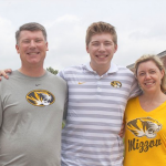 Mizzou student with father and mother