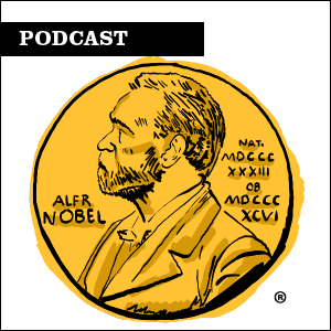 Podcast. Illustration of Nobel Prize medal