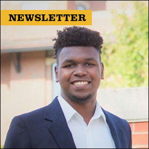 Newsletter. Rodney McDuffie, Mizzou graduate student and FEMA intern