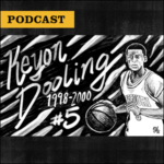 Inside Mizzou Podcast: Illustration of former Mizzou basketball player Keyon Dooling, 1998-2000, #5