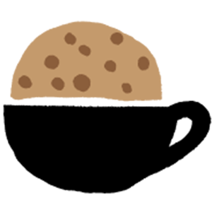 Cookie dipped in coffee cup
