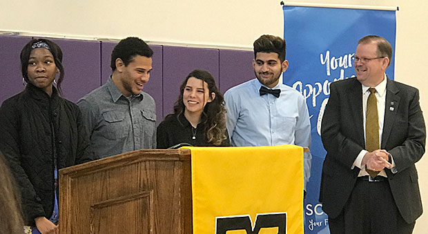KC Students attend a scholarship announcement
