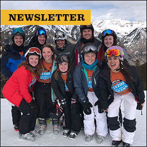 Inside Mizzou newsletter: Mizzou Alternative Break students pictured on snow mountain in Telluride, Colorado