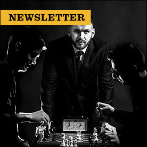 Inside Mizzou Newsletter: Chess team coach watching over two chess players as they play