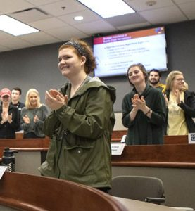 MU students applaud for Kemper Award winners