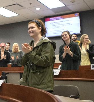 MU students applaud for Kemper Award winners