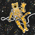 Truman the Tiger takes a space walk