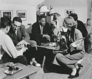 Dr. Ridgel and students in Read Hall, 1951