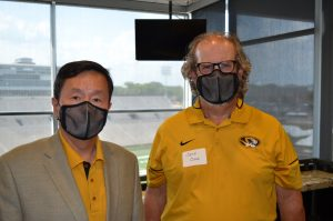 A photo of President Choi and Jeff Cook.