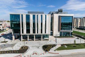 A photo of the Roy Blunt NextGen Precision Health building